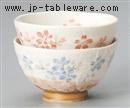平安桜飯碗(赤)