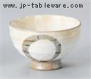粉引まる印茶碗