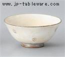粉引印花茶碗