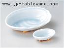青白磁アワビ刺身鉢