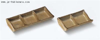 黄華鉄砂三品皿
