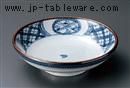 古染間取丸紋7.5寸めん皿