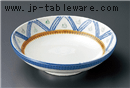 白釉トチリ点格子7.5麺鉢