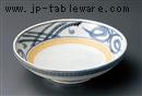 黄地トチリ唐草7.5めん皿