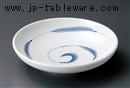 手描き うず笹7.5麺皿
