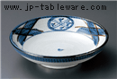 格子紋7.5寸麺皿