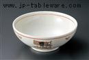 粉引華絵巻7.0麺鉢