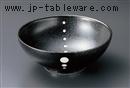 黒結晶点紋めん鉢