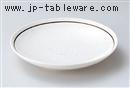 粉引ライン7.5深皿