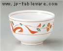 手描き赤絵京型千茶