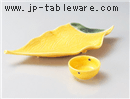 黄輝葉型刺身鉢