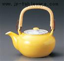 黄釉草花M4号土瓶