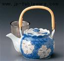 タタキ山茶花U付8号土瓶