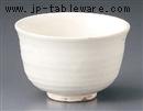 京焼粉引割高台抹茶碗(化)