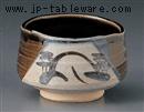 織部山水抹茶碗(化)