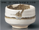 薄墨流し抹茶碗(木)