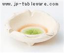 白釉グリーンひねり灰皿(中)