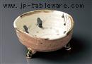 手造 古代織部三つ足盛鉢