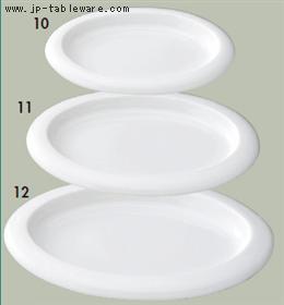 白磁オーバルタパスS