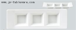 白H型3ピースプレート