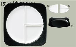 白磁扇形小皿