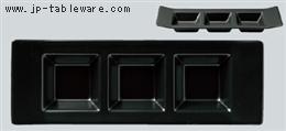 黒マットH型3ピースプレート