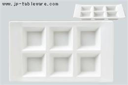 白H型6ピースプレート