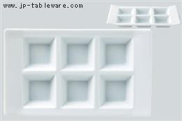 青白磁H型6ピースプレート