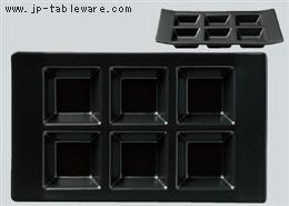 黒マットH型6ピースプレート