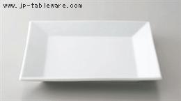 白磁正角皿