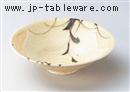 黄灰釉草花紋5.5向付