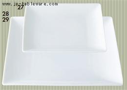 白磁7.0正角皿