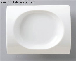 白磁鞍18cmプレート