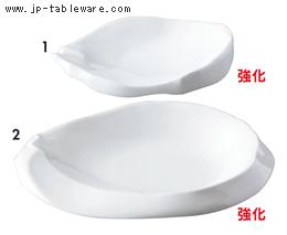 強化白釉ちぎり6.5寸皿