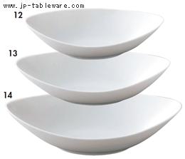 白磁舟形鉢小