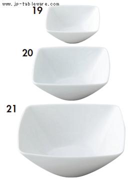 白磁スクエアボール8.5cm