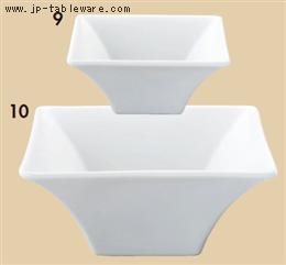 角皿シリーズ(白)四角ボール10cm