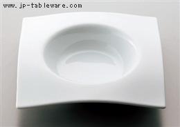 白磁8吋タレスープ皿