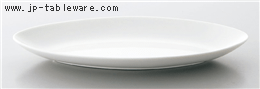 白磁長楕円皿