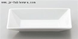 白スクエア14cm長皿