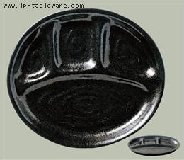 黒釉ランチ皿