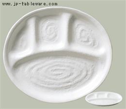 白釉ランチ皿