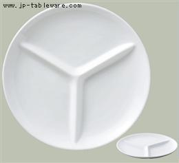 ホワイトライフ丸型ランチ皿 L