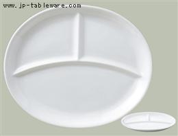 ホワイトライフ楕円ランチ皿 L
