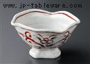 赤絵万暦変型高台鉢