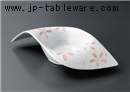 ラスターピンク花変形鉢