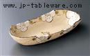 山茶花舟型盛鉢