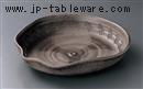 炭化瓢型10.0盛鉢