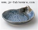灰ブルーなすび16cm中鉢