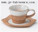 乱線削りコーヒーC/S(碗と受け皿セット)